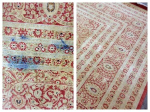 Before and after Blue Berries on Rug